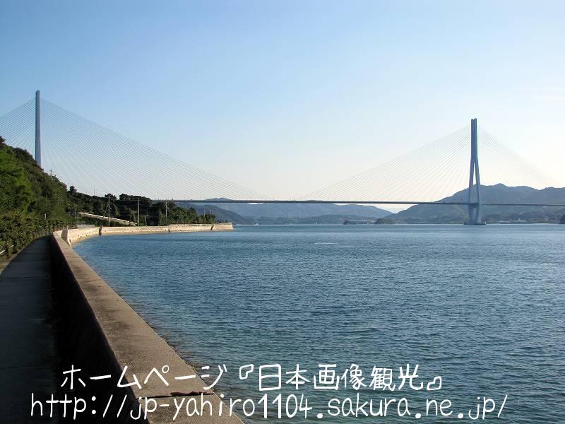 岡山・生口島から見た多々羅大橋