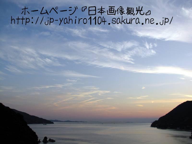 岡山・大三島橋の上から見た夕暮れ