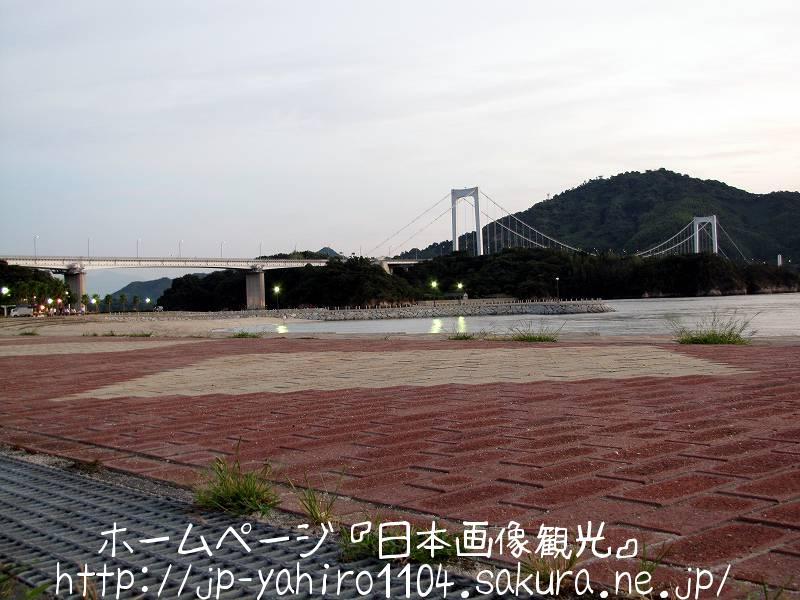 愛媛・夕暮れの伯方・大島大橋1