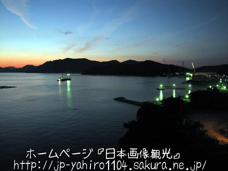 愛媛・夕暮れの伯方・大島大橋2