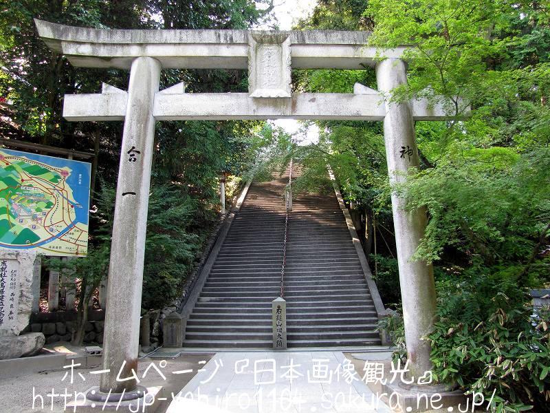愛媛・しまなみ海道自転車の旅、石鎚神社の参道