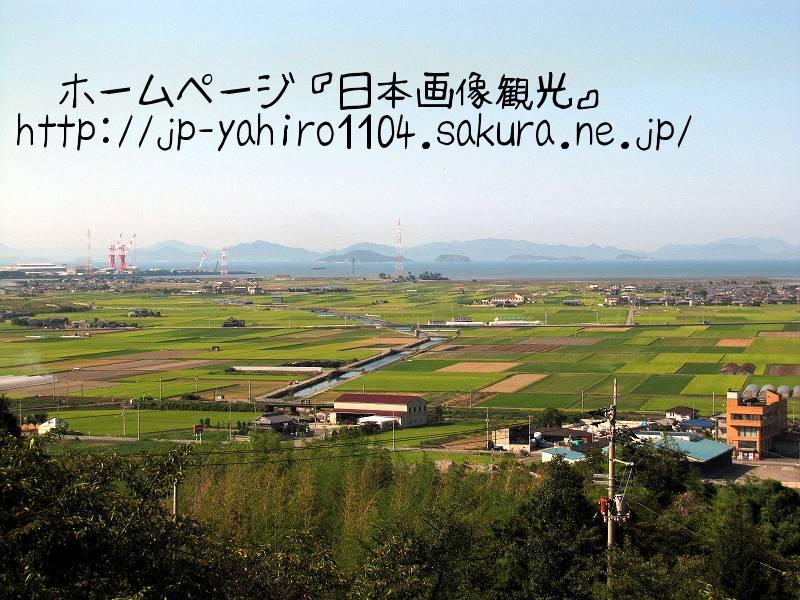 愛媛・しまなみ海道自転車の旅、石鎚神社から見た海