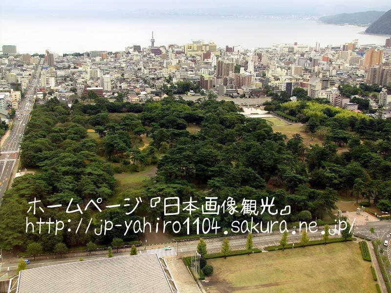 大分・グローバルタワーから見た別府の街2
