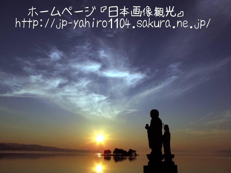 島根・松江名物、宍道湖に沈む夕日2