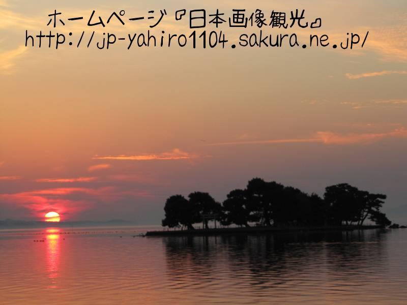 島根・松江名物、宍道湖に沈む夕日4