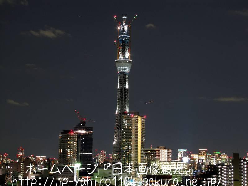 東京・スカイツリーのクリスマスライトアップ1