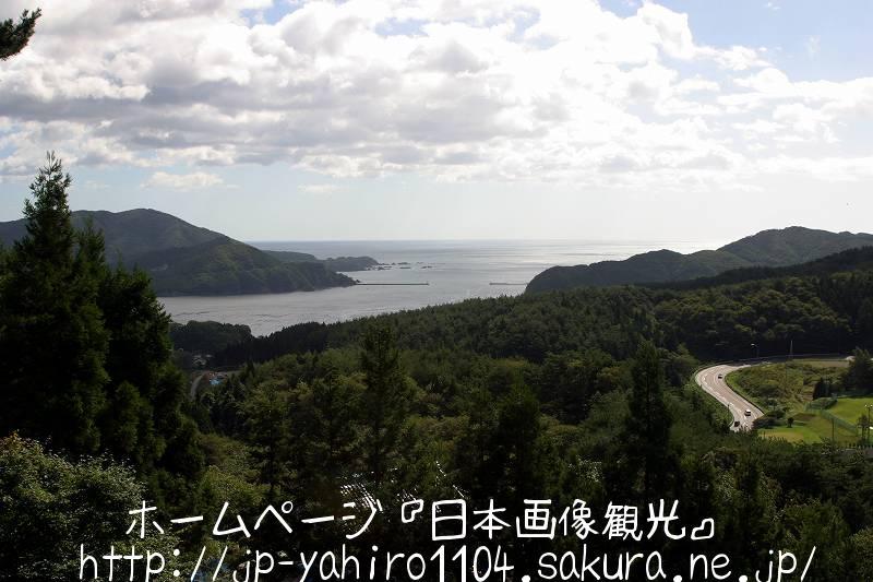 岩手・通岡峠から見た大船渡湾