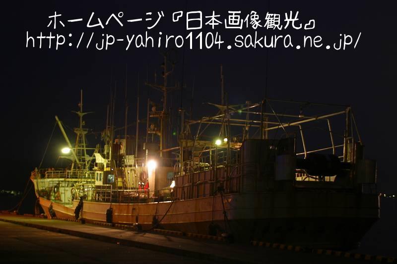 岩手・夜の大船渡漁港