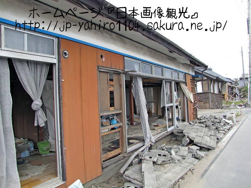 茨城・北茨城市中心部の被災家屋2