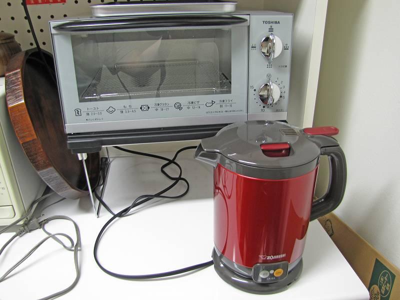 本日購入、オーブントースターと電気ポット
