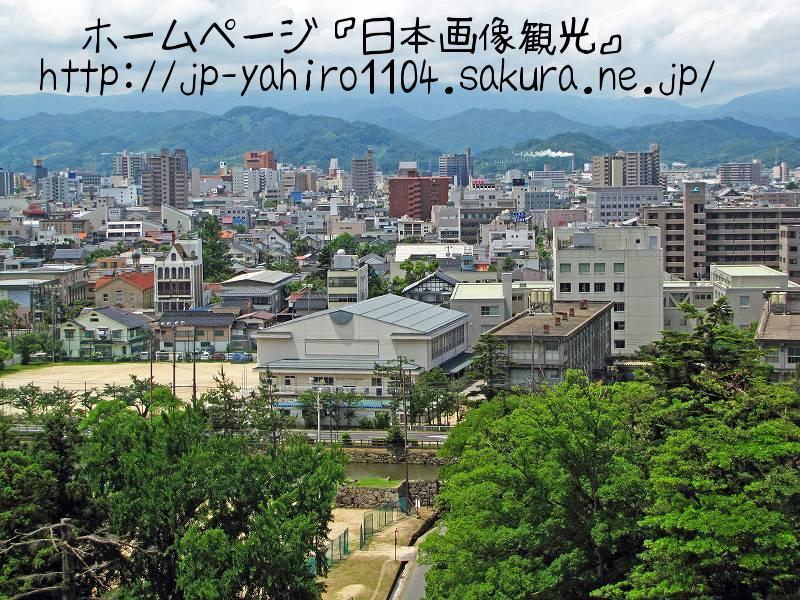 鳥取・鳥取市の展望台、鳥取城跡からの眺め2