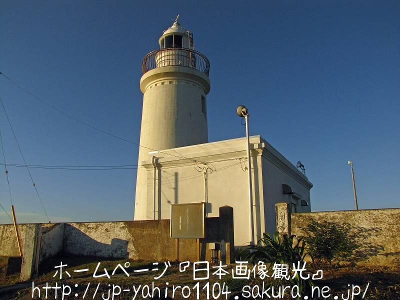 千葉・洲の崎灯台と富士山シルエット付き夕日1