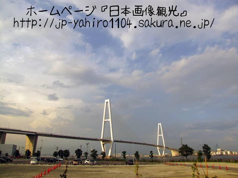 愛知・夕暮れの名古屋港・金城埠頭1