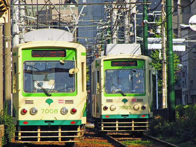 東京・都電荒川線の電車