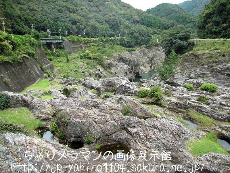 岐阜・天然記念物、飛水峡の甌穴