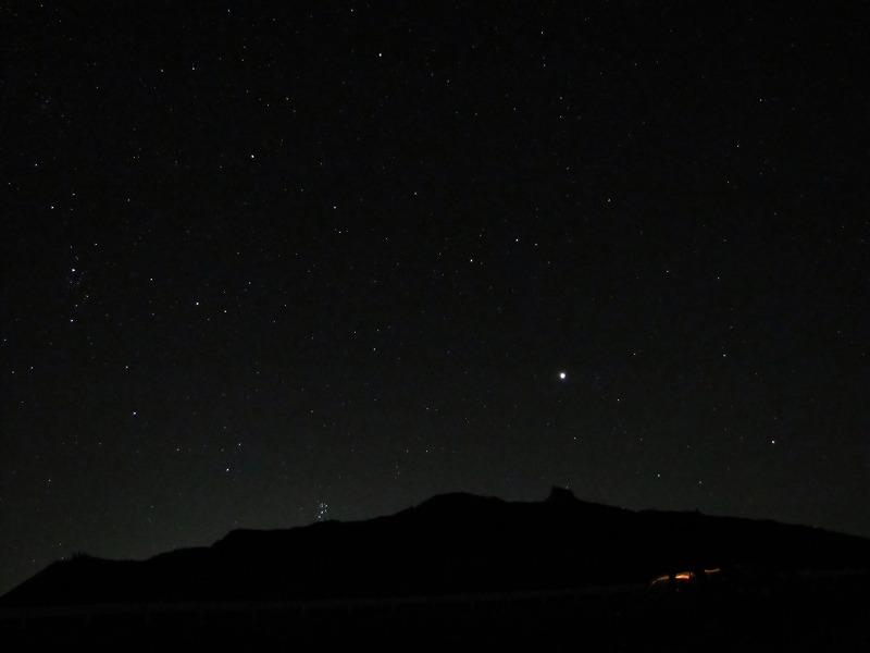 宮城・星空の蔵王、刈田岳山頂