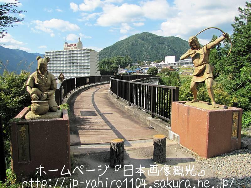 岐阜・日本三名泉、縄文橋から見た下呂温泉1