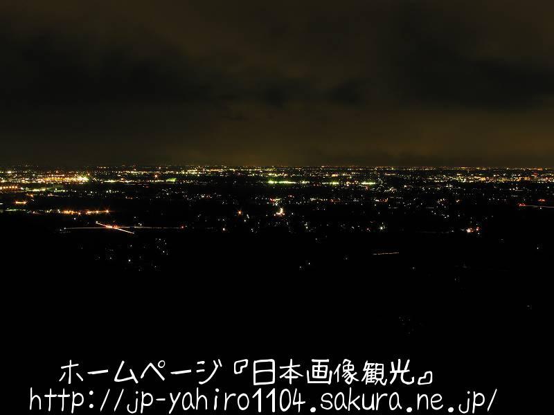 茨城・筑波山朝日峠展望台から見た夜景1