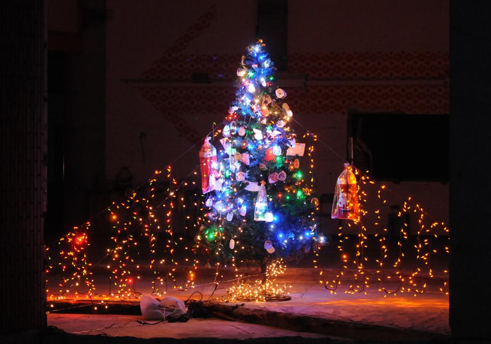 大川小_クリスマスツリー_1