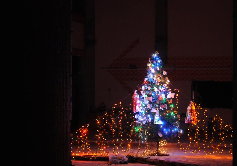 大川小_クリスマスツリー_2
