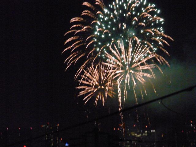 多摩川の花火1