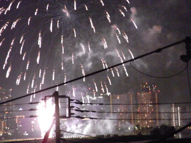 多摩川の花火2