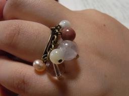 天然石を使ったリング