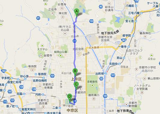 二条城への地図001