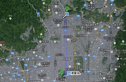 二条城への地図002