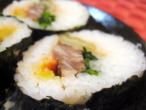 亀有 焼肉レストラン 錦城苑 肉巻き恵方巻き
