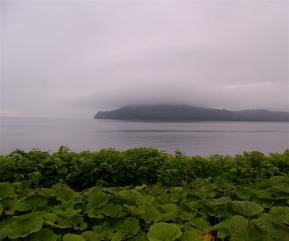 霧のサロマ湖