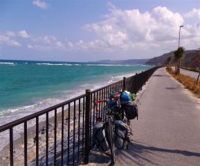 海と自転車2
