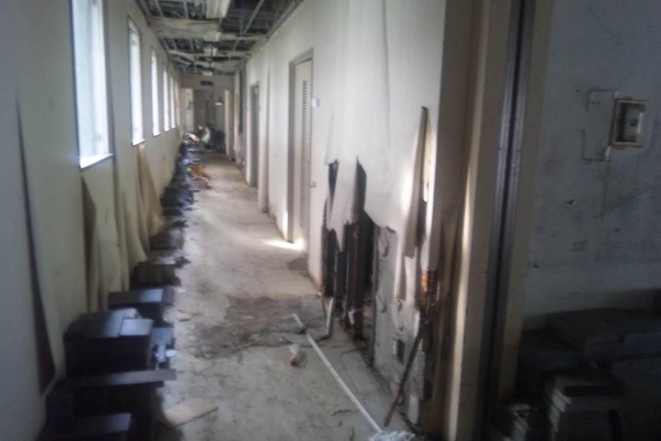 浸水被害により町役場も壊滅