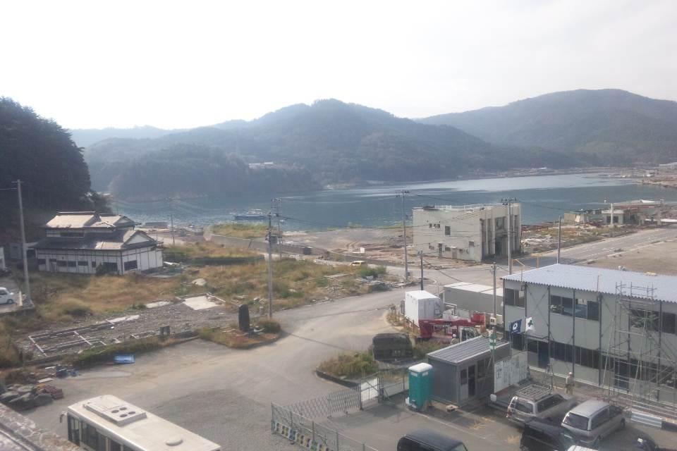 町役場の屋上からみた風景