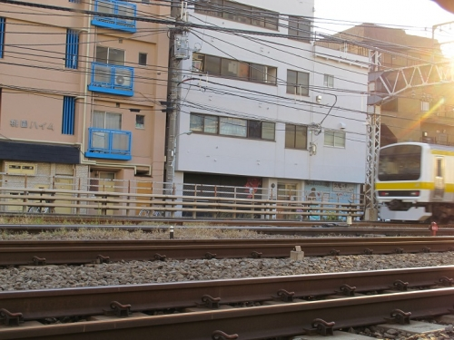 高円寺から中野へ 線路