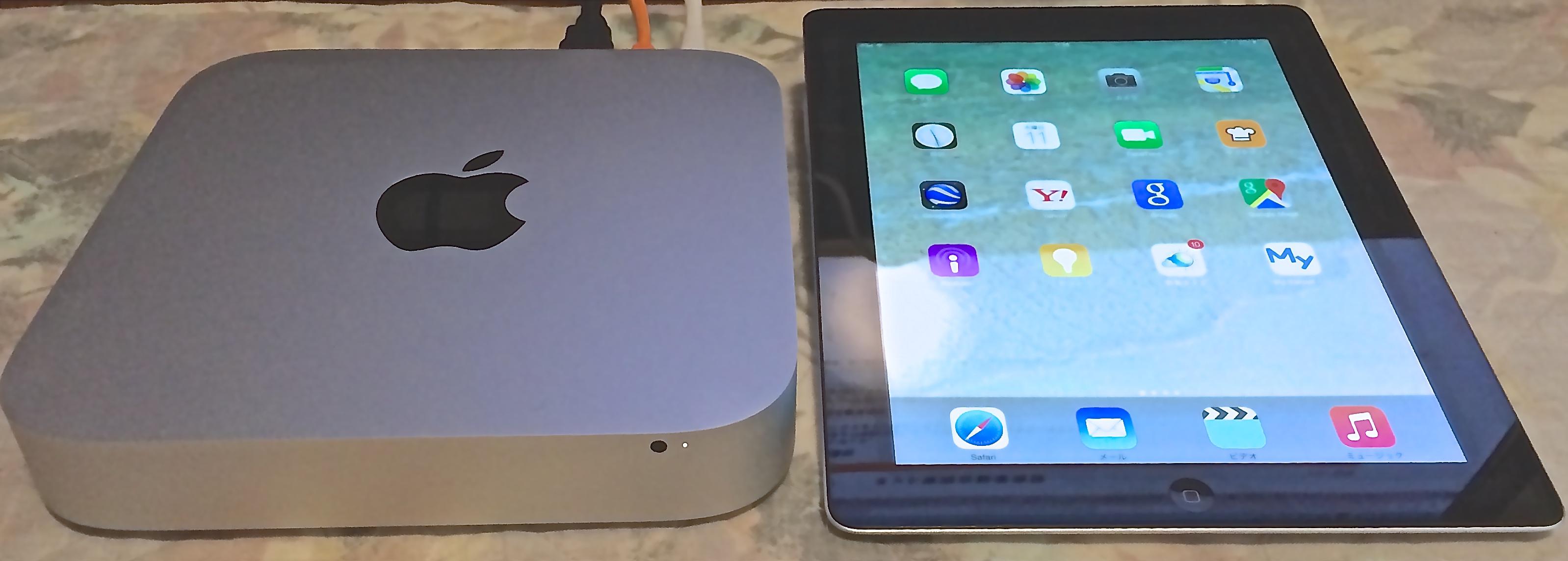 Mac mini と iPad