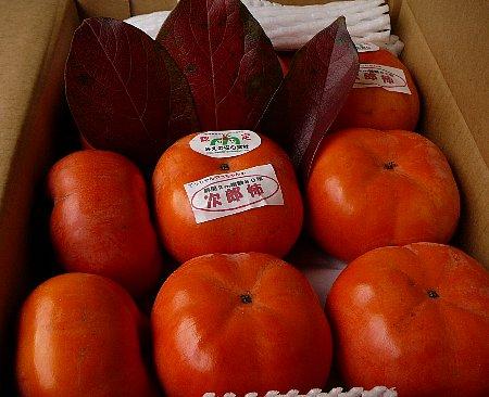 小:柿箱詰め葉付き