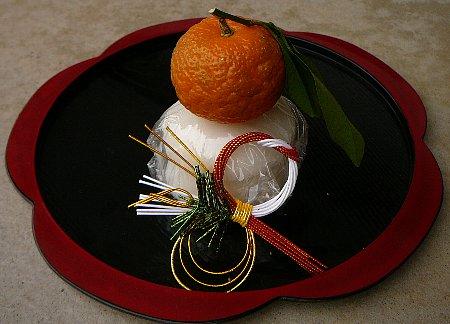 ○葉付きお鏡自作餅