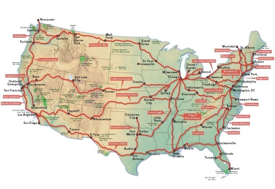 アムトラック地図