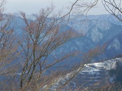 採石場付近の眺望