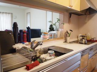 現在のキッチン。