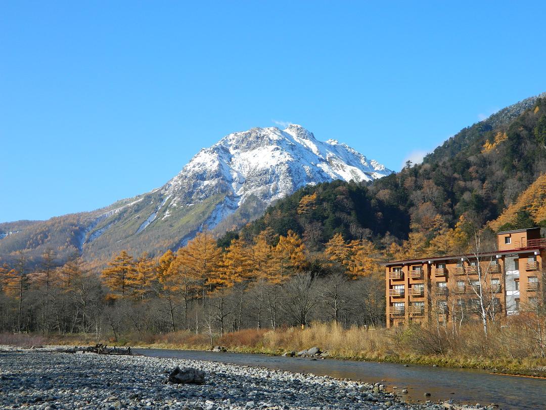 当館と焼岳
