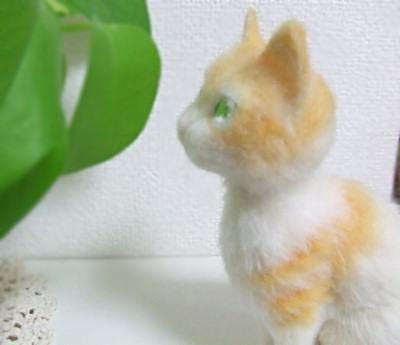 羊毛フェルト作品・猫