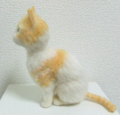 羊毛フェルト作品、猫