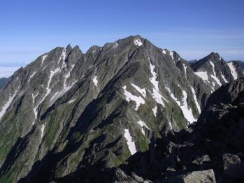 前穂高岳より望む奥穂高岳