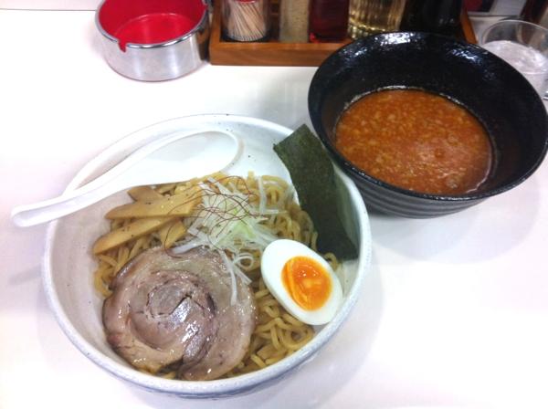 らーめん丈屋 美郷店 辛味噌つけ麺(熱盛)