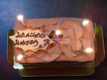 ケーキと柿 002