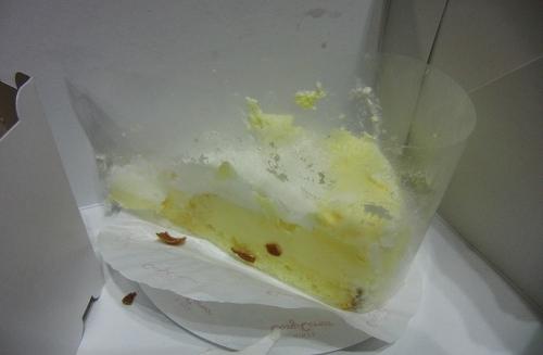 証拠のケーキです