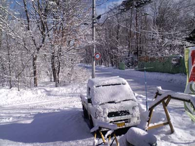 H26.1.9 雪事務所前