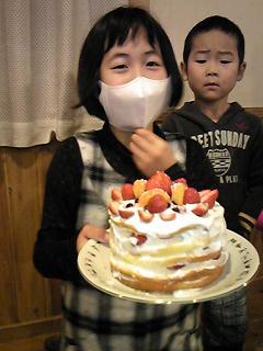1号のバースデイケーキ